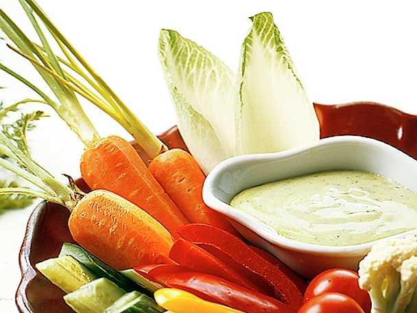 Grönsaksdipp med nobisdressing