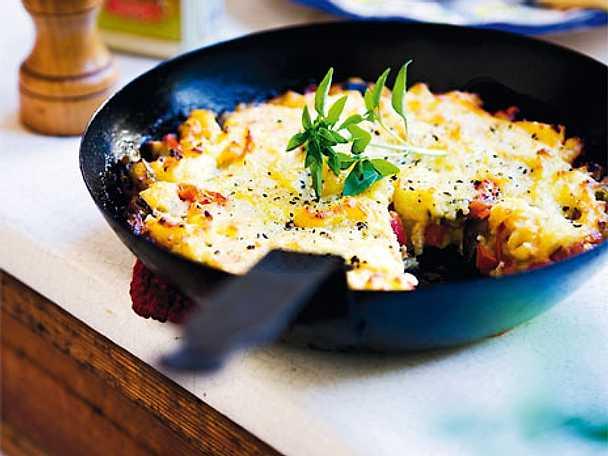 Grönsaksgratäng med potatismos