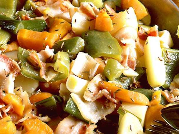 Grönsaksgryta med bacon