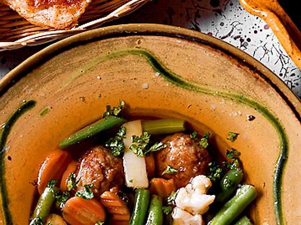 Grönsakssoppa med ostsnittar