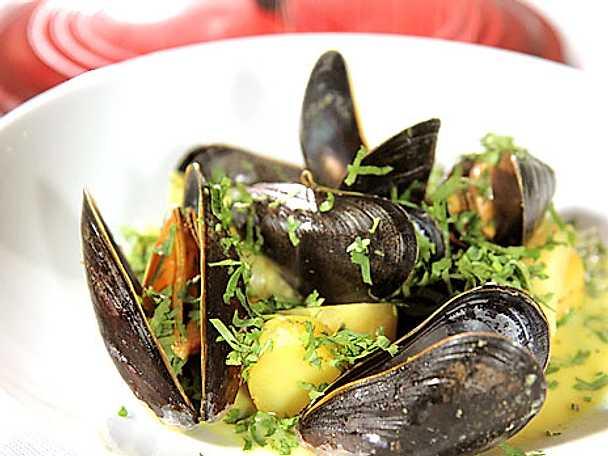 Gryta på musslor med rotfrukter