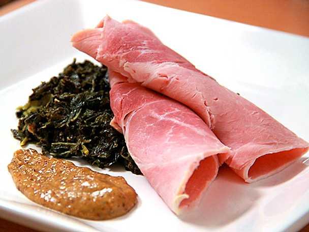 Halländsk långkål med skinka och senap