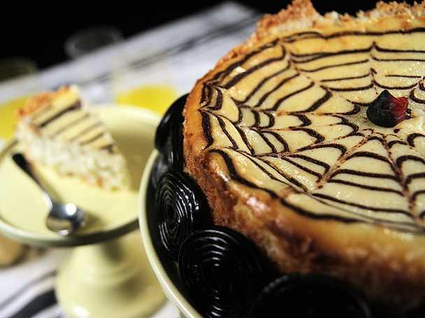 Halloweencheesecake med kokos och vanilj