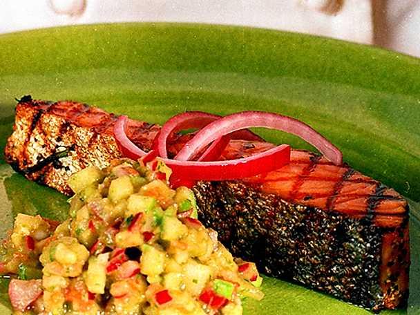 Halstrad gravlax med avokadosalsa