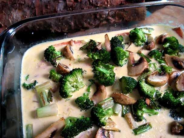 Halstrad lax med rostade grönsaker i ingefärsgrädde