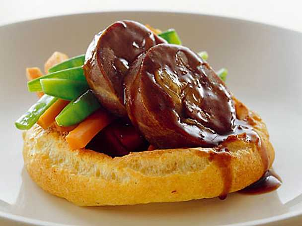 Hare med yorkshirepudding