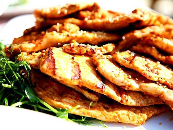 Harissamarinerad kycklingschnitzel