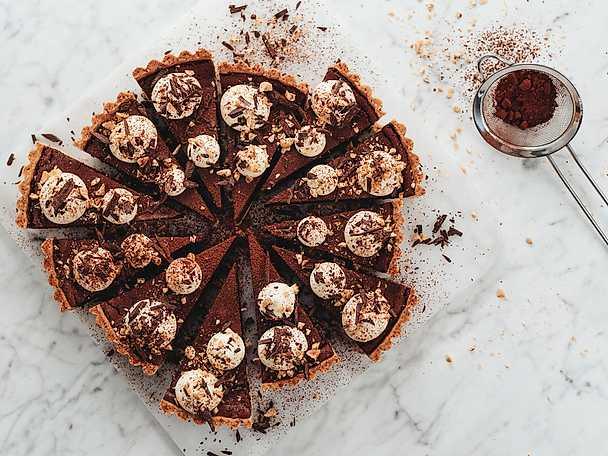 dessert med choklad