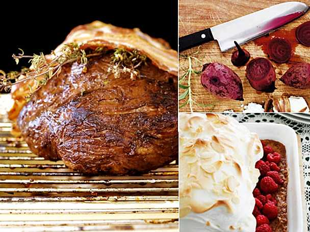 Helgmeny med stek och potatisgratäng