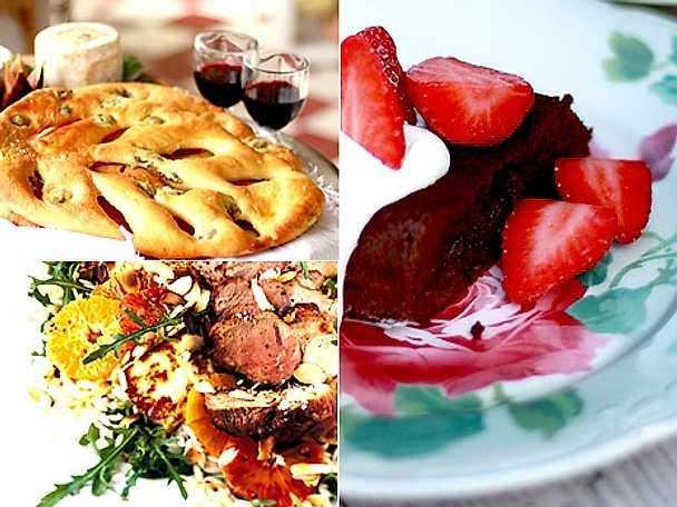 Helstekt fläskfilé, festbröd och Leilas franska chokladtårta