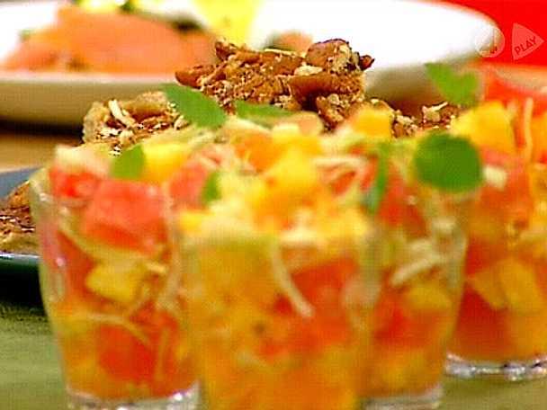 Het fruktsallad med spetskål