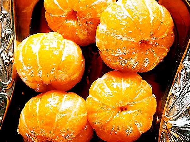 Heta mandariner med pepparkaksgrädde