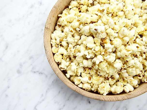 Heta popcorn med lakrits och chili