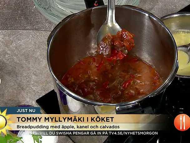 Högrevsgryta med chorizo, paprika, tomat och spiskummin