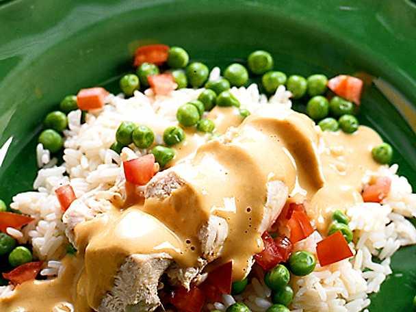 Höns med ris och curry