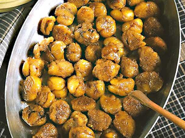 Honungsglaserade kastanjer