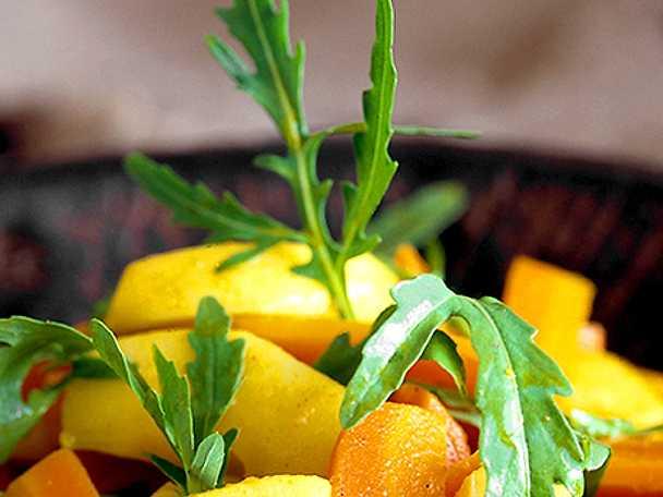 Honungsglaserade rotfrukter