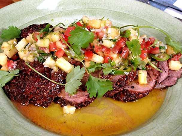 Honungsstekt fläskkarré med salsa
