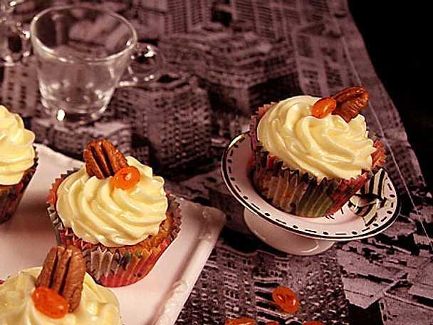 Höstiga cupcakes med pumpa