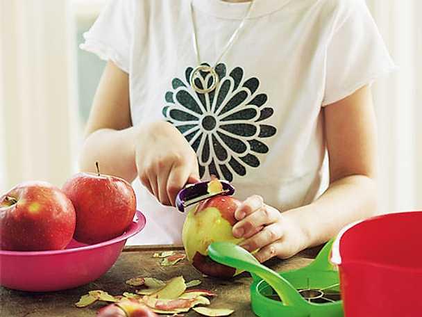 Höstkyckling med äpple