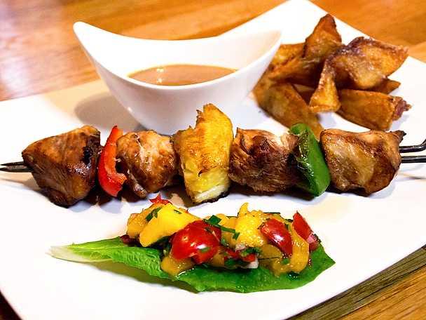 Huli-Huli kyckling med mangosalsa