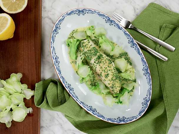 Huvudrätt till nyår - jälleflundra med broccoli