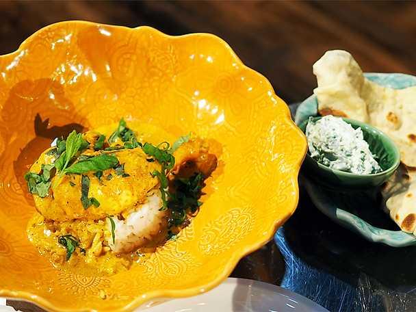 Indisk curry med kyckling och kokoksmjölk