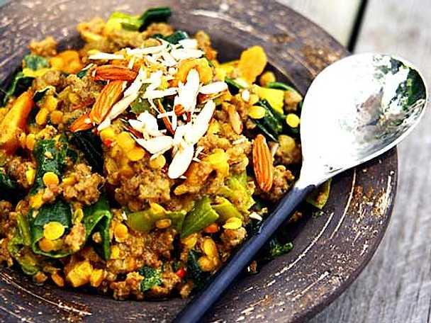 Indisk köttfärsgryta