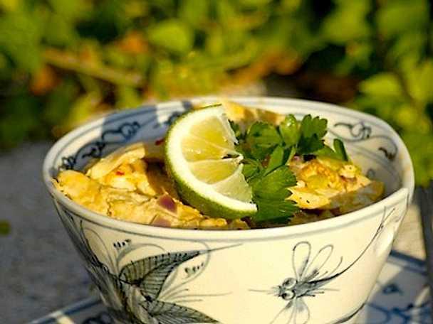 Indisk kycklinggryta med curry och grädde