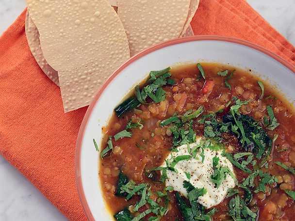 Indisk linssoppa med garam masala