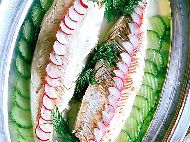 Inkokt fisk i gelé