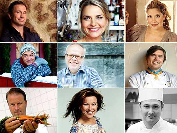 Intervjuer med kockar och kändisar