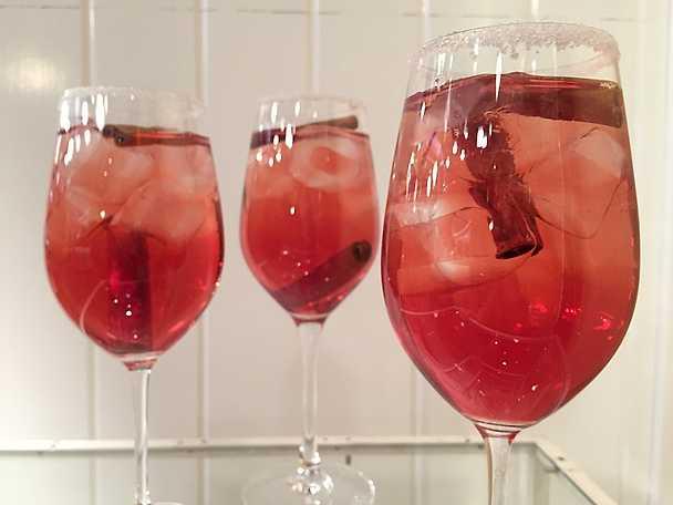 Iskall tranbärs- och kaneldrink