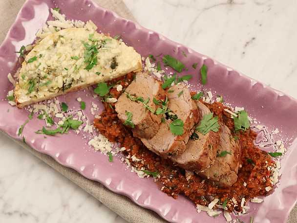 Italiensk fläskfilé med parmesangratinerad rotselleri