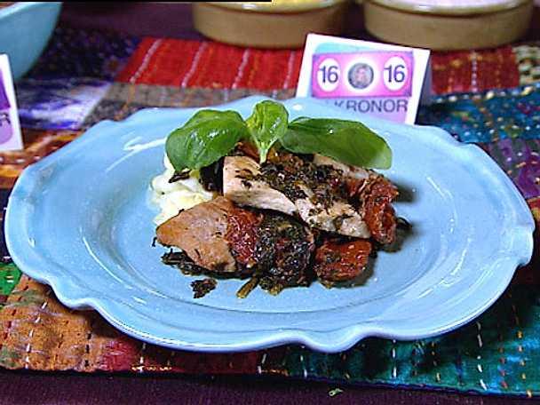 Italiensk kyckling med zucchinipasta