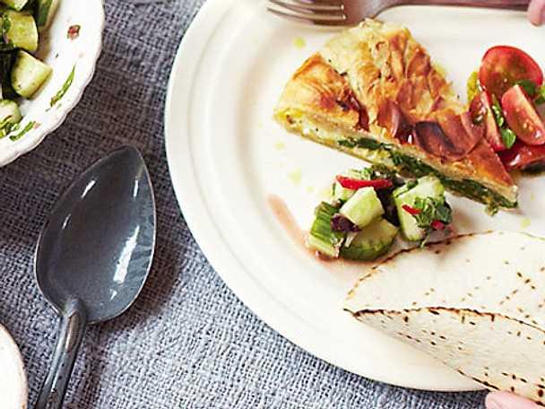 Jamie Olivers spenat- och fetaostpaj