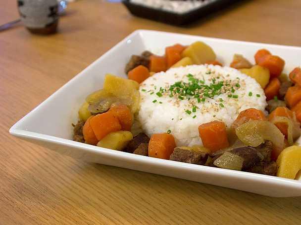 Japansk currygryta med ryggbiff