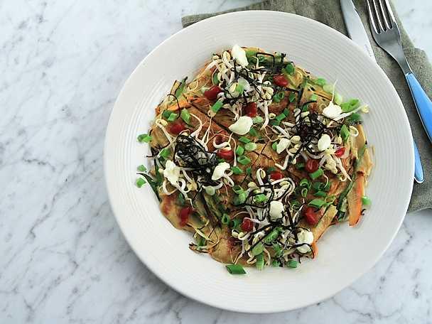 Japansk grönsakspannkaka - Okonomiyaki