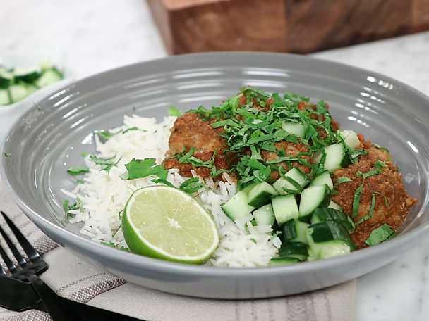 Jennies indiska kycklingbullar i currysås