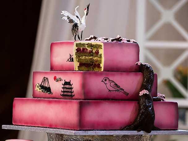 Jennies tårta med grönt te och körsbär