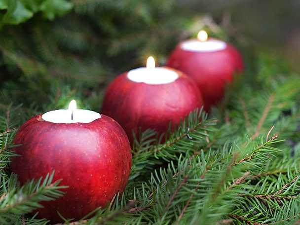 Juldukning tips äppelljus