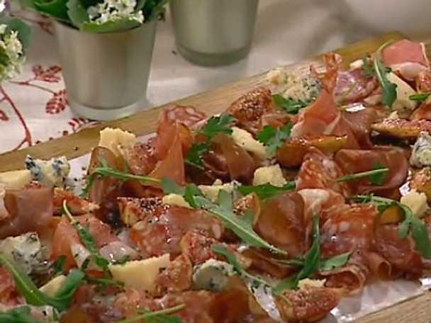 Kallskuret med ost, rucola och fikon i portvin