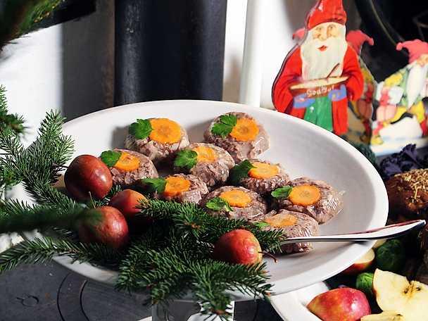 Kalvsylta med morotsblommor, Ernsts recept