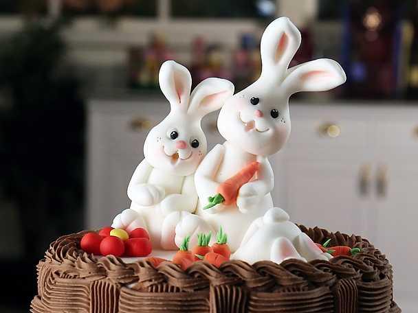 Kaniner i sockerpasta - se & gör