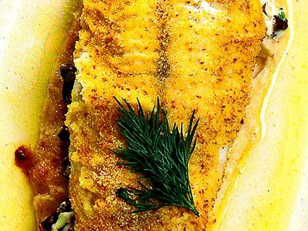Kantarellfylld fiskfilé