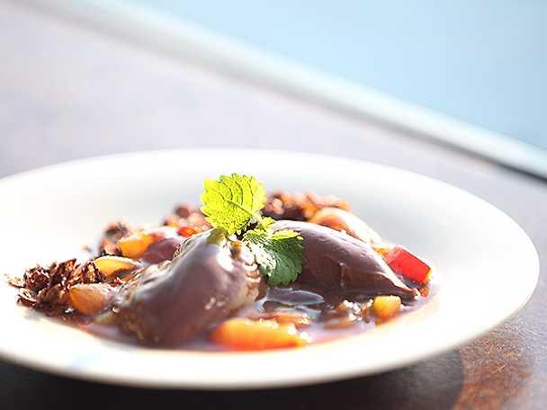 karamelliserad chokladcreme