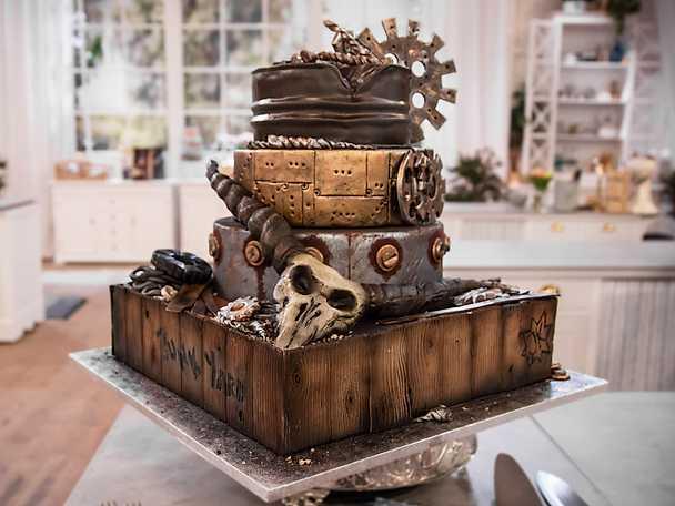 Kents och Jennies chokladtårta med hasselnötter och mörk rom