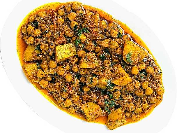 Kikärtscurry med potatis