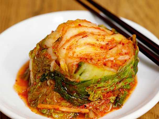 Kimchi - inlagd och syrad salladskål