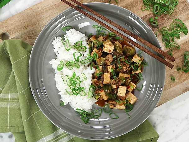 Kinesisk tofugryta med sichuanpeppar